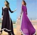 Musulmán Vestido de Las Mujeres Más El Tamaño de Encaje Parcheado 6l Largo Maxi Dress Plus Size Dama Vestidos de Ropa