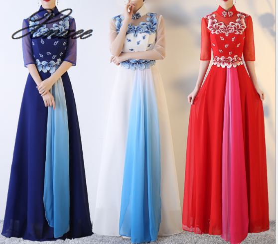 2019 ladies summer new elegant long dress