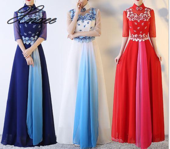 2019 السيدات الصيف الجديدة أنيقة فستان طويل-في فساتين من ملابس نسائية على  مجموعة 1