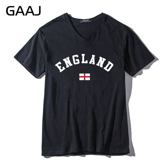 dda115b2575a England Men   Women Unisex T Shirts Tee V Neck New Print Letter United  Kingdom Casual