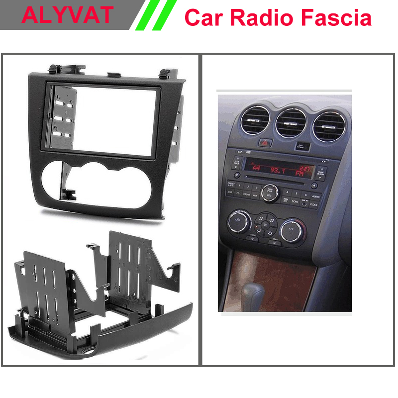 car radio dvd cd fascia facia panel frame for NISSAN Altima 2006-2012 Stereo Fascia Dash CD Trim Installation Kit