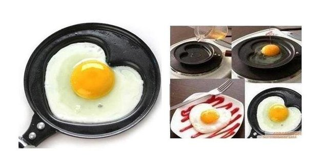 free shipping CHINA POST 5pieces/lot Love Fried eggs pot in love me the small fry eggs frying pan  H0176