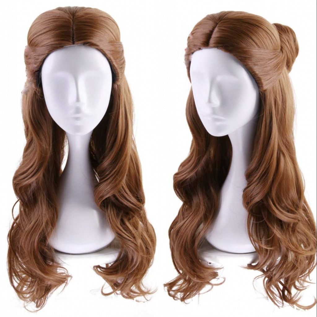 Rockstar Wigs Long Wavy Brown Belle Beauty And The Beast Synthetic Cosplay Wigs For W