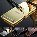 2016 New Mirror Back Cover Case Metal Frame Phone Cases for Sony Xperia Z Z1 Z2 Z3 Z4 Z5 Compact Premium M4 Aqua M5