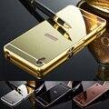 2016 Novo Espelho de Volta Caso Cobertura Metálica Quadro Casos de Telefone para Sony xperia z z1 z2 z3 z4 z5 compacto premium aqua m4 m5