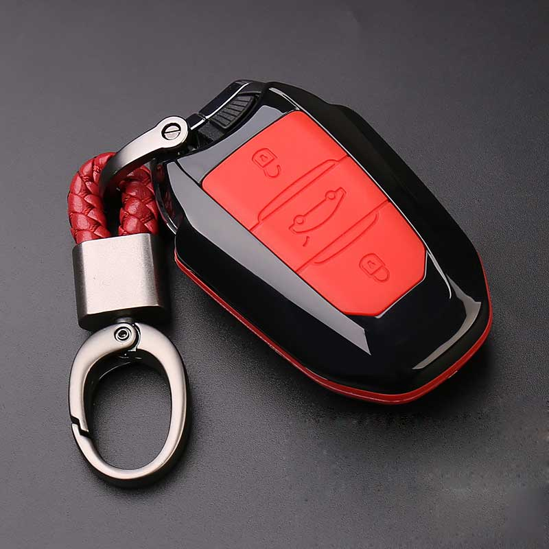 Carbon Fiber Car Key Cover Case 3 Buttons For Peugeot 3008/508/2008 For Citroen C4l/ds6/c6/ds5 Car Key Cover