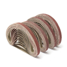 10 шт. 40/60/80/120 крупа шлифовки и полировки Замена шлифовальной ленты Грит Бумага для угловая шлифовальная машина 330x10 мм