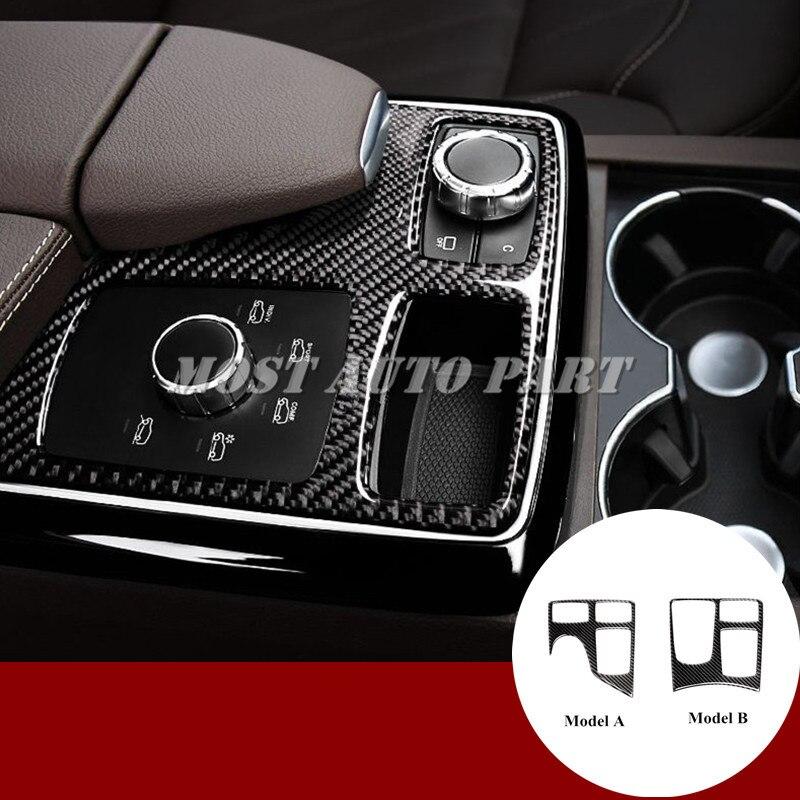 Carbon Fiber Center Console Gear Box Cover For Benz ML W166 2012 2015 GL X166 2013
