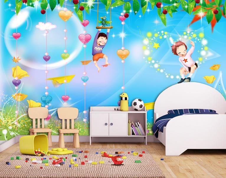 Custom 3d photo wallpaper 3d wall murals wallpaper Children room 3 d contracted children room mural 3d living room wall decor custom baby wallpaper snow white and the seven dwarfs bedroom for the children s room mural backdrop stereoscopic 3d