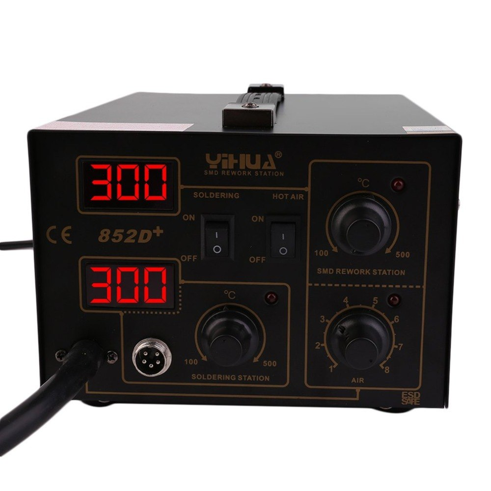 LED affichage précis 852D Machine de soudage industrielle domestique de grande puissance 400 W Instrument de soudure de température Stable précis