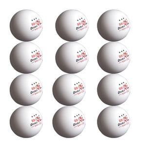 12 bolas/2 paquetes de pescado doble Volant V40 + 3 estrellas 40mm pelotas de tenis de mesa ABS pelota de Ping pong ITTF aprobado Bola de tren de competición