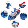 Electric Fire Boat Model Aircraft Carrier Warship Electric Toy Boat Offshore Battleship Toys Gift for Children Can Sail in Water
