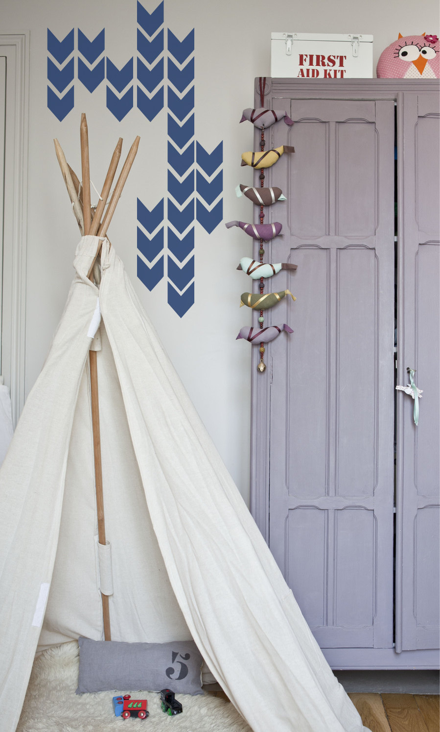 Ins Hot Sale Arrow wall stickers For Kids Room Boys Bedroom Wall Decals Removable Vinyl Teepee Wall Art Decals Mural D964