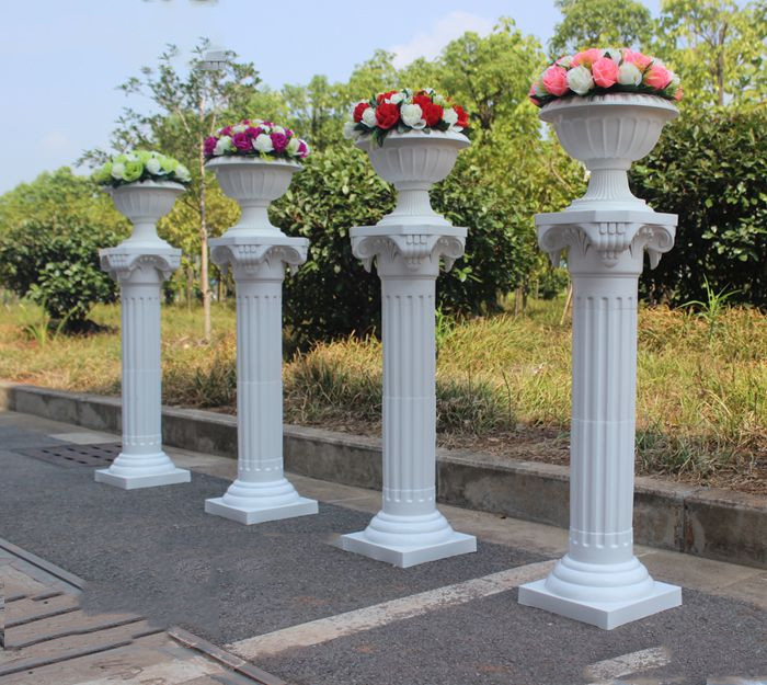 34in Height Roman Column Wedding Party Decoration Plastic