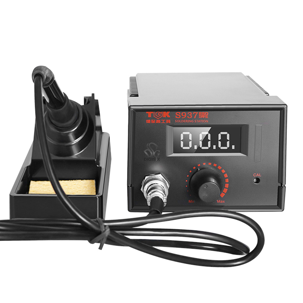 ФОТО Free shipping Electric Soldering Iron Station LED digital display 220v 60w 480 degree Soldering Rework Station TGK-S937