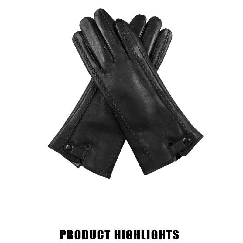 HTB1er5kzuOSBuNjy0Fdq6zDnVXa4 - New Women's Gloves Genuine Leather Winter Warm Fluff Woman Soft Female Rabbit Fur Lining Riveted Clasp High-quality Mittens