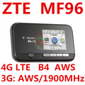 Unlocked ZTE MF96 4G LTE Mobile WiFI Hotspot Router FDD AWS 1900MHZ pocket mifi 4g wifi dongle pk mf95 mf910 mf93 mf90
