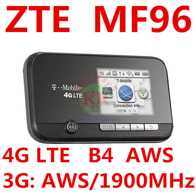 Unlocked ZTE MF96 4G LTE Mobile WiFI Hotspot Router FDD AWS 1900MHZ pocket mifi 4g wifi dongle pk mf95 mf910 mf93 mf90