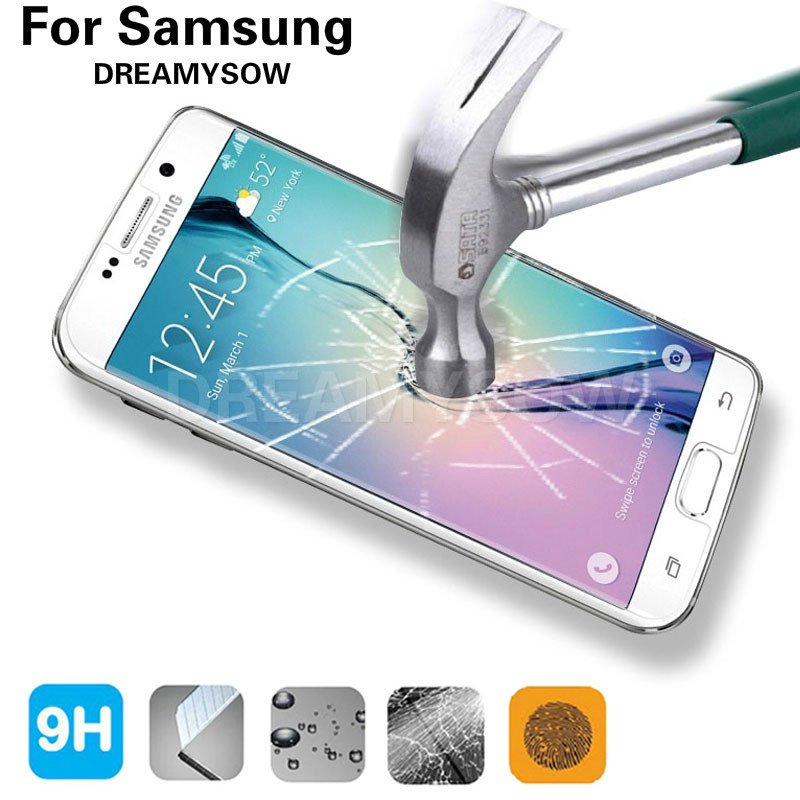 Galleria fotografica 9H Protective Film 2.5D HD Premium Tempered Glass For Samsung Galaxy A3 A5 J3 J5 2015 2016 Grand Prime Screen Protector Film