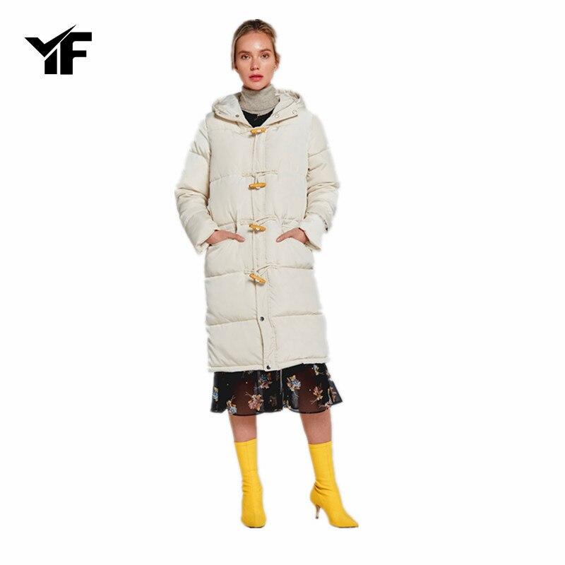 YF Plus size Winter Jacket Women 2018 New Womens Down Cotton Thicker jackets Hooded Long Coat Female Parkas