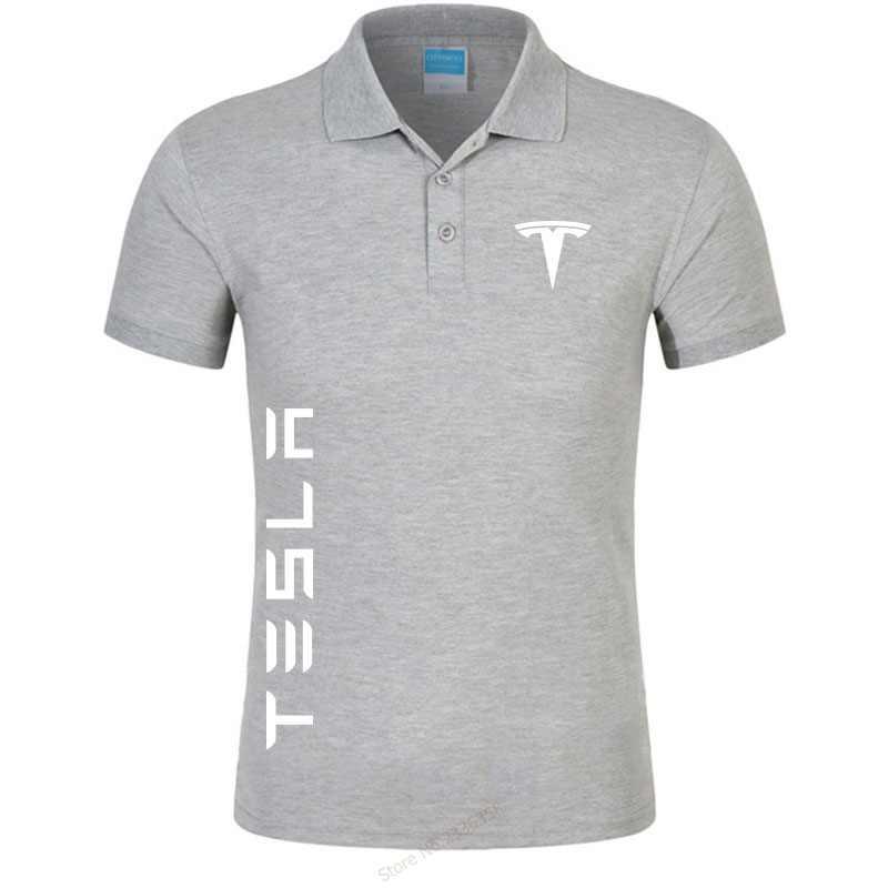 cc294cc7 ... 2019 Men's colors tesla polo shirts casual men's short-sleeved tesla  motors polo shirt brand ...