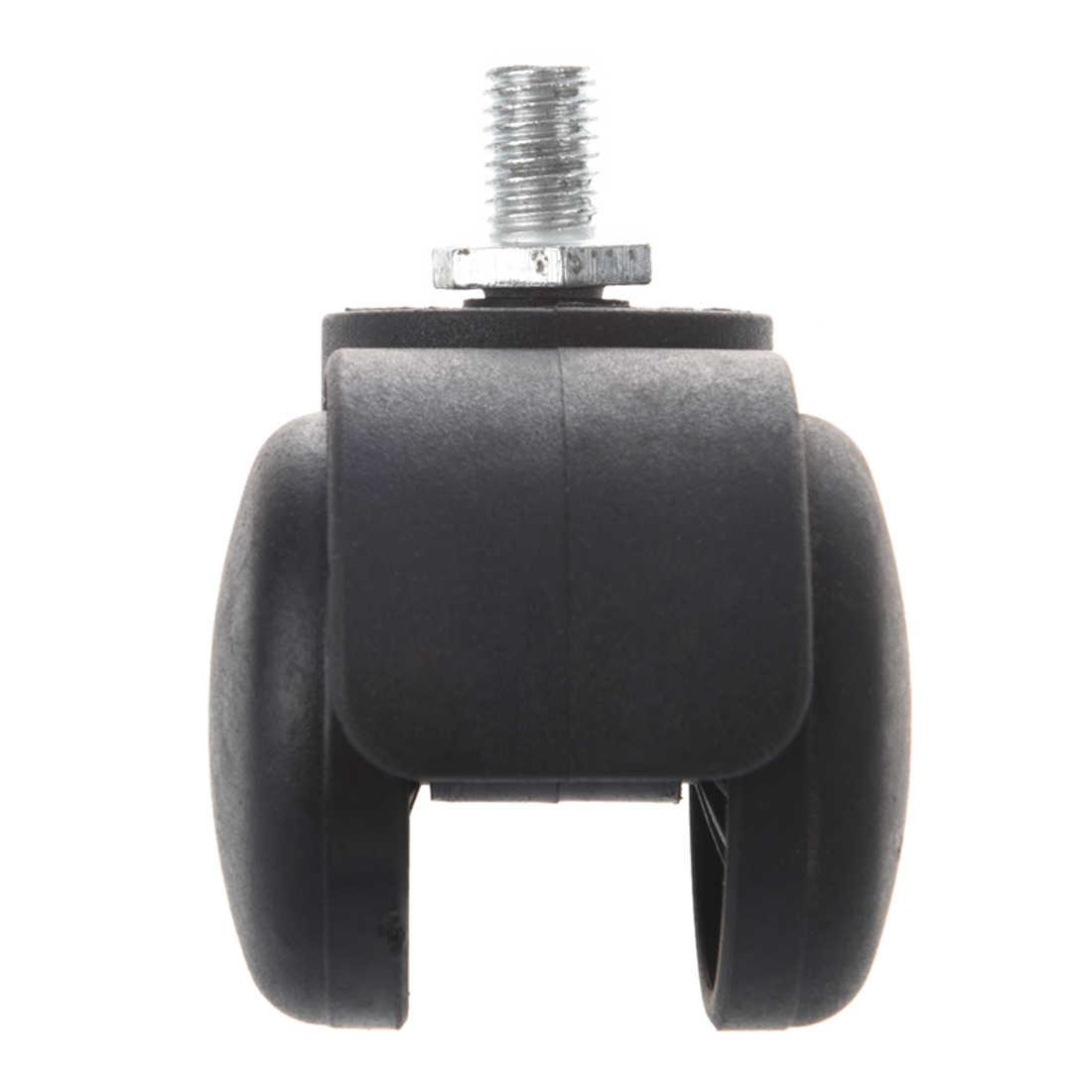 """Conector de rosca Da Haste Twin-Rodízio Do Trole Da roda Cadeira Preta com 3/8 """"Rosca Da Haste"""