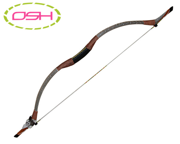ФОТО 40LBS Snakeskin Recueve Bow Archery Hunting Bows Mongolian Traditional Horsebow for Adults