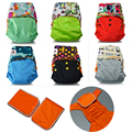 Jinobaby Nappies Washable Baby Cloth Diaper for nb to 35lbs. (with 2PCS Waterproof Inserts)