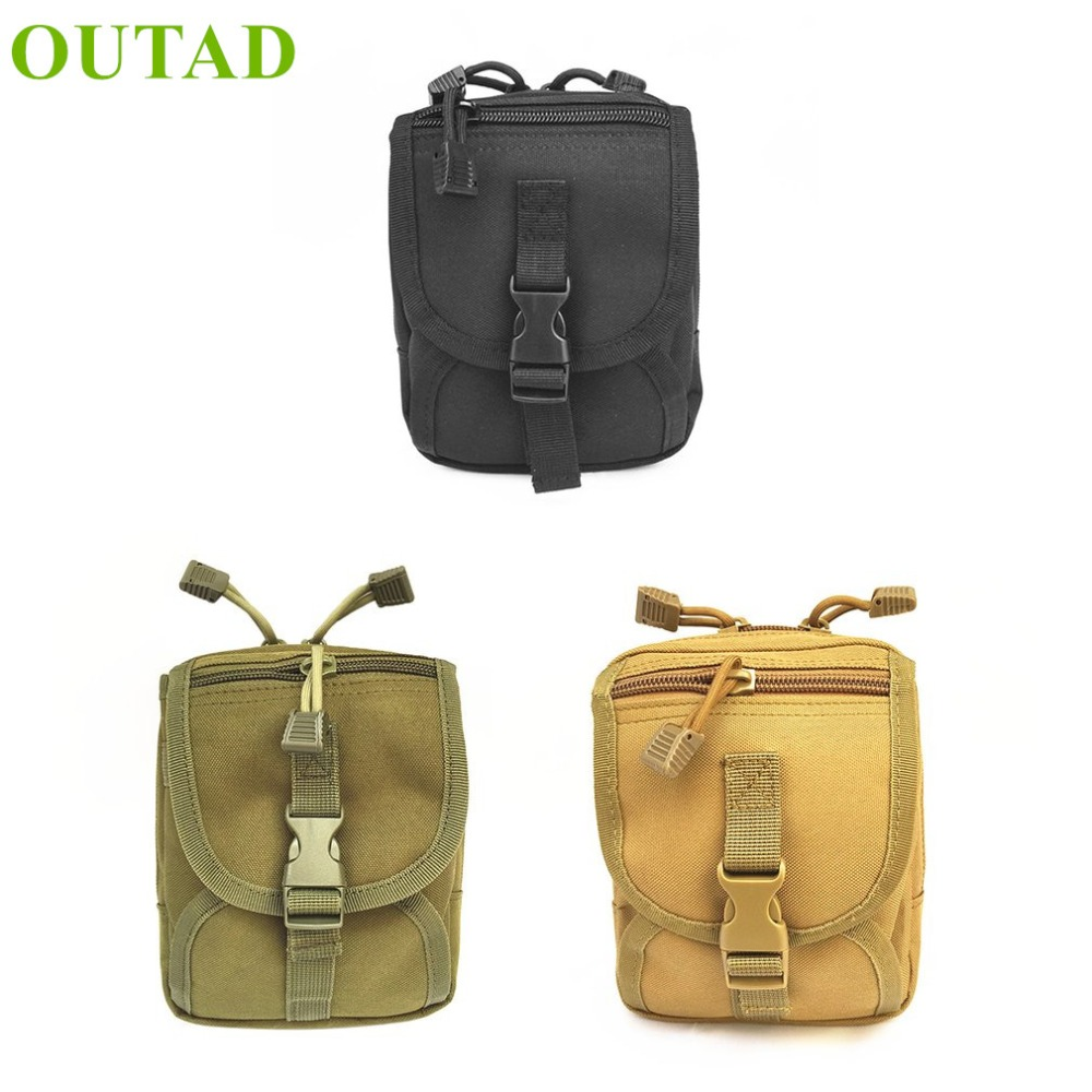 OUTAD Multi-Purpose Small Tools Holder Bag Tactical Waist Pack Zipper Key Phone Pack Outdoor Sports Bag Camping Hiking Pouch outdoor sports waist bag ultra light mini tactical waterproof pouch waist pack small purse for camping hiking cycling climbing