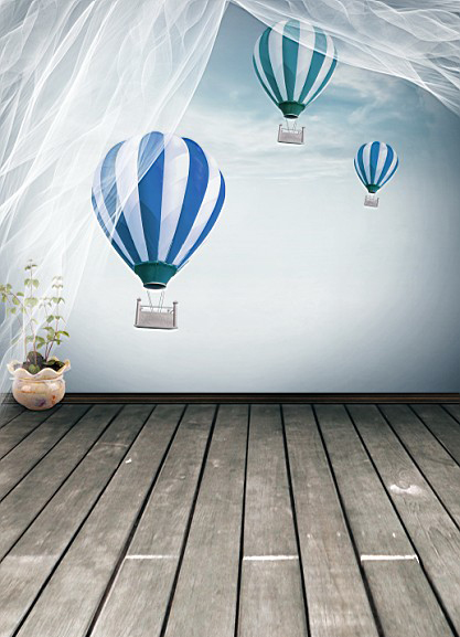 Kate Children Photography Backgrounds Wood Hot Air Balloons Fly Pots Curtains Photography Backdrops Photo LK 1400 215cm 150cm backgrounds blossom petals colorful colorful floral scent the air tricks slim co photography backdrops photo lk 1135