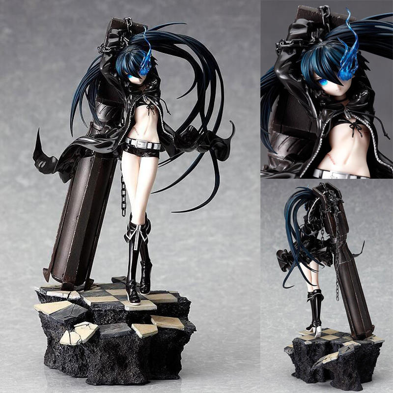Black Rock Shooter 1/8 scale action model 26cm Anime painted figure with box collection figures toy gift PVC hot game anime insane black rock shooter 1 8 scale huge 40cm action figure