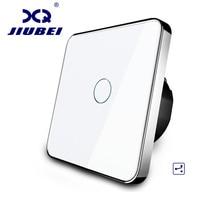 Jiubei EU Standard Wall Switch 2 Way Control Switch Crystal Glass Panel Wall Light Touch Screen