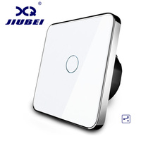 Jiubei EU Standard Wall Switch 2 Way Control Switch Crystal Glass Panel Wall Light Touch Screen