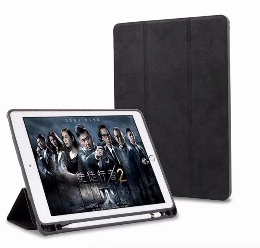 Case With Pencil Holder For Apple Ipad Pro 12.9 PU Leather Smart Cover Auto Sleep Wake Case A1670 A1671tablet Case With Pen Slot