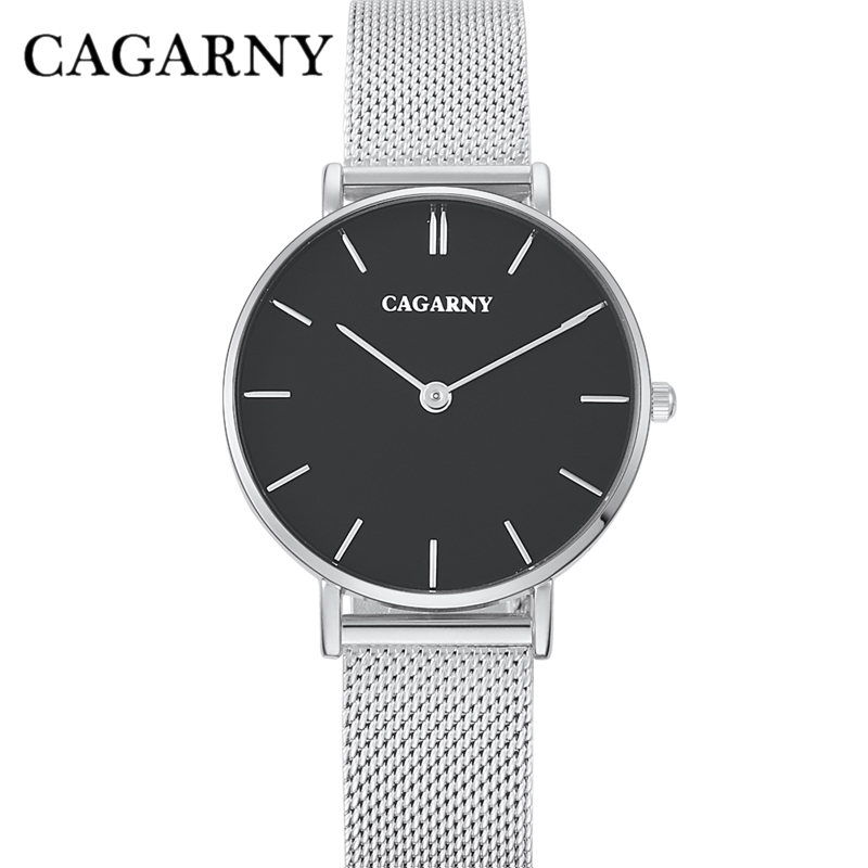 dw style cagarny stainless steel mesh watchband quartz watch for women fashion watches (11)