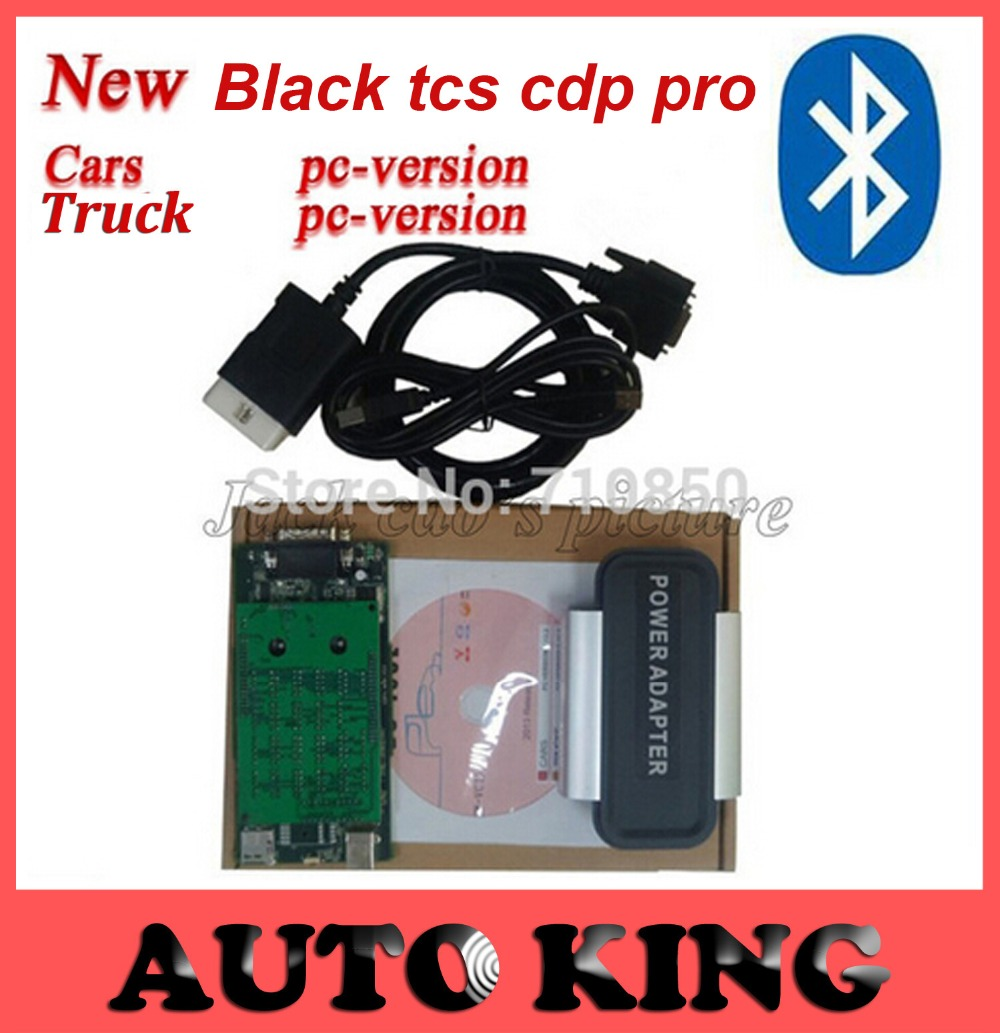 with Bluetooth function black Tcs cdp pro plus for CARs and TRUCKs obd2 scan font b
