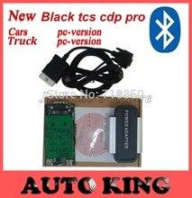 Con la función de Bluetooth! negro Tcs cdp favorable para Los Coches y Camiones obd2 scan herramientas + 2015 r1 dvd Software Libera la Nave
