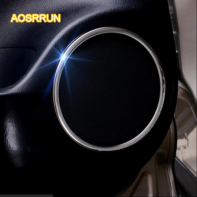 AOSRRUN sound circle Modified horn ring decorative interior door frame Suitable for <font><b>Lexus</b></font> <font><b>RX200T</b></font> 6/PCS Car <font><b>Accessories</b></font> image