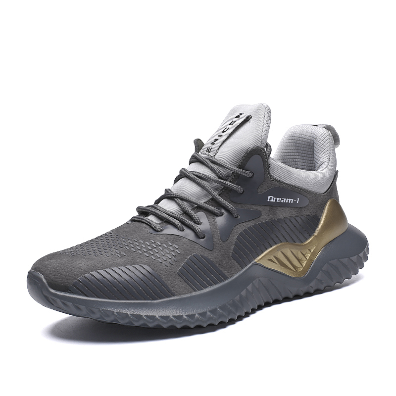 SUROM invierno de los hombres zapatillas de deporte transpirables agregar felpa caliente corriendo zapatos cómodos zapatos de moda de hombre al aire libre Zapatos de deporte zapatillas hombre