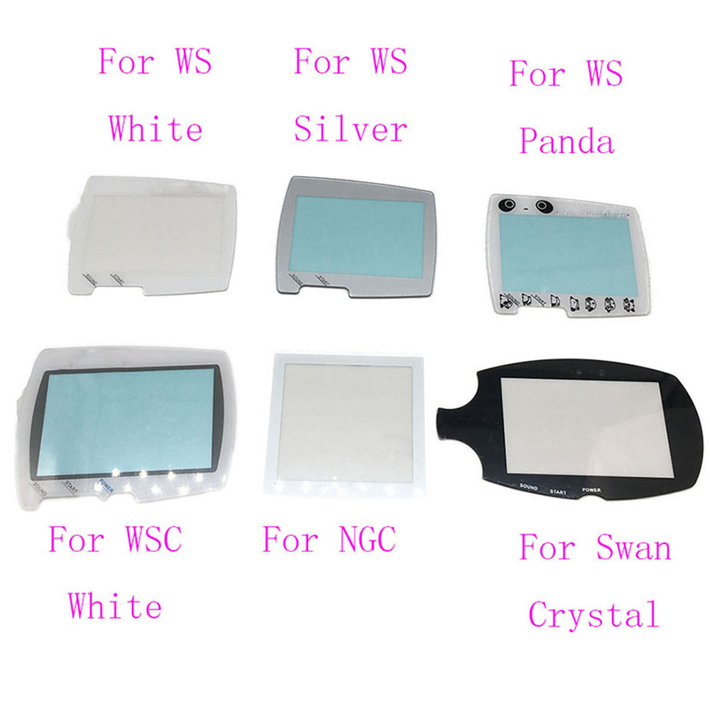 Consumer Electronics Video Games Ocgame High Quality Silver White Replacement Protector Cover For Bandai Wonder Swan Screens For Ws Screen Lens