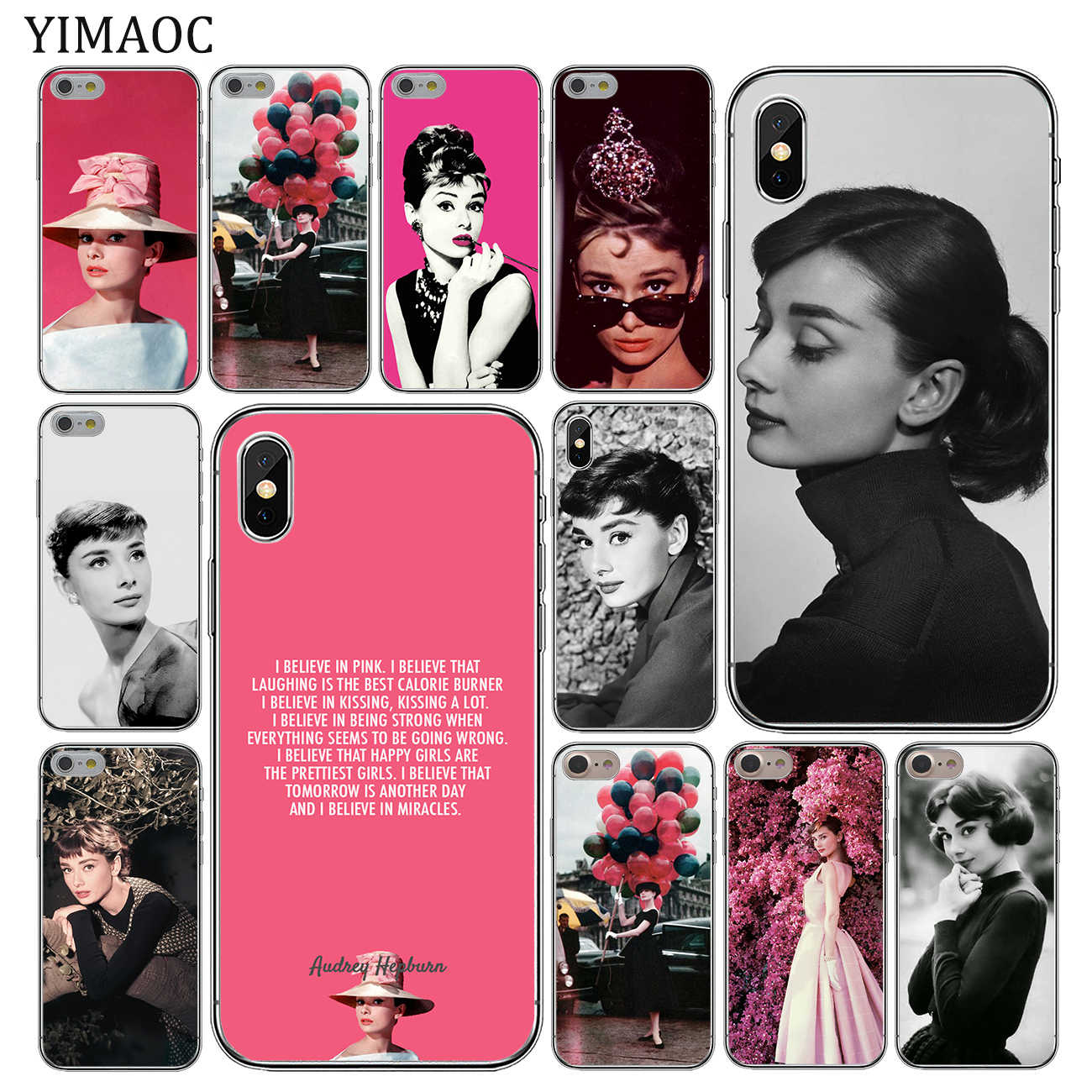 YIMAOC Audrey Hepburn Soft Silicone Cover Case for Apple iPhone 11 Pro X XR XS Max 6 6S 7 8 Plus 5 5S SE 10 TPU Phone Cases