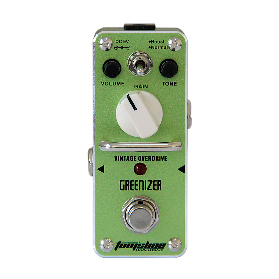 Guitar Pedal AROMA AGR-3 GREENIZER Effect Pedal agr 3 greenizer vintage overdrive guitar effect pedal aroma mini analogue guitar accessories with true bypass footswitch