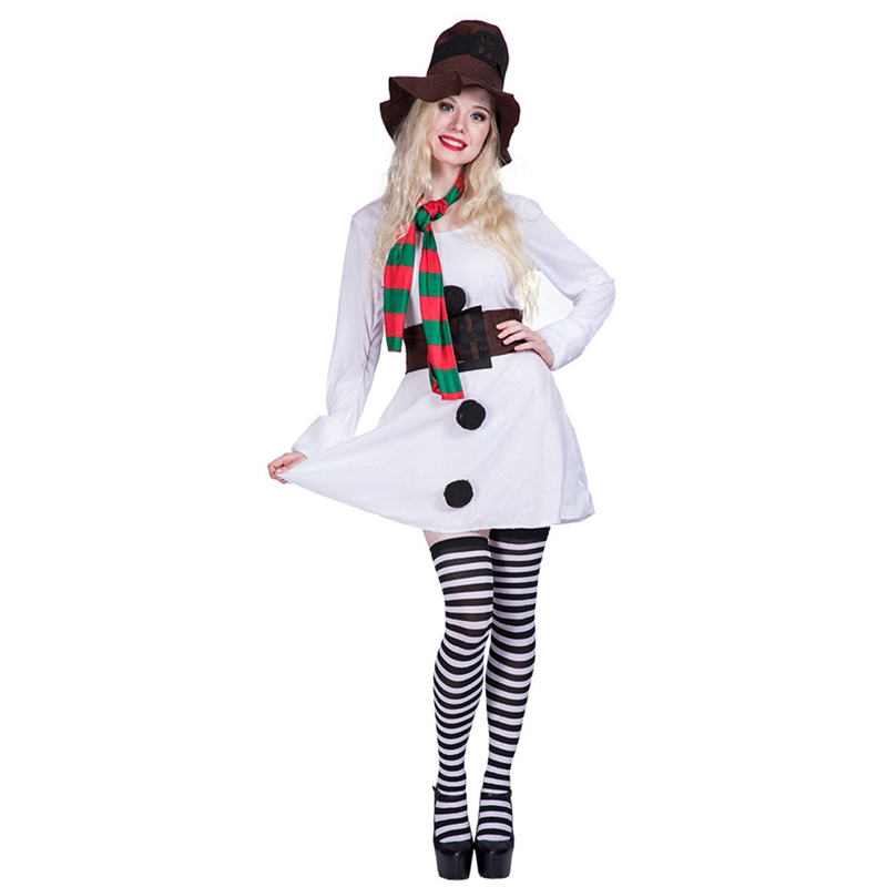 White Snow Girl Adult Womans Christmas Costume