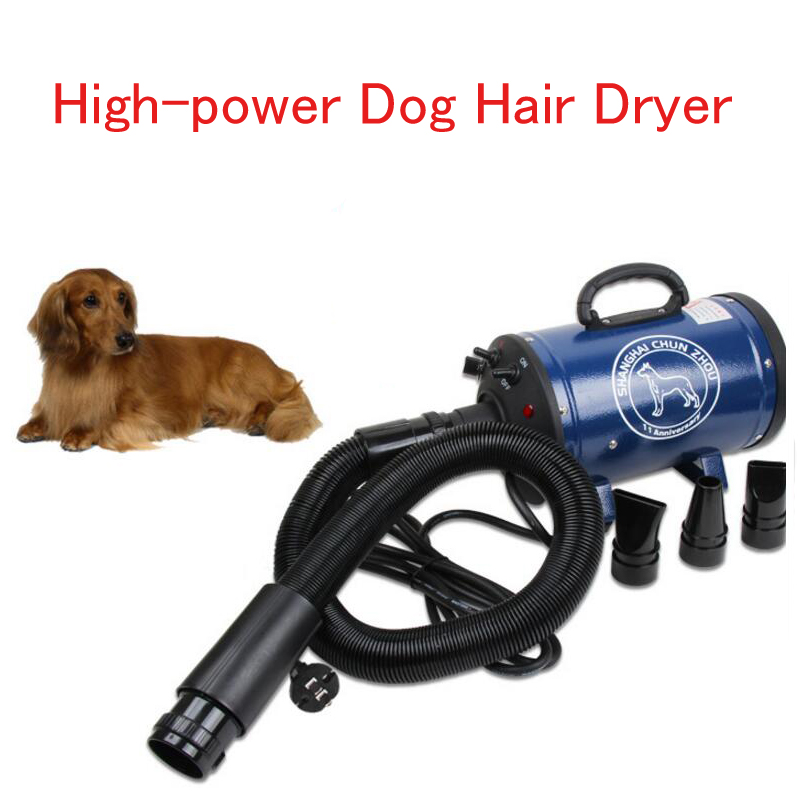 Electric Dog Hair Dryer Dog/ Cat Hair Blowing Machine for Bath Low Noise Pet Hair Drying Machine Handheld High Power Hair Blower stronger power low noise dog grooming dryer per hair dryer blower
