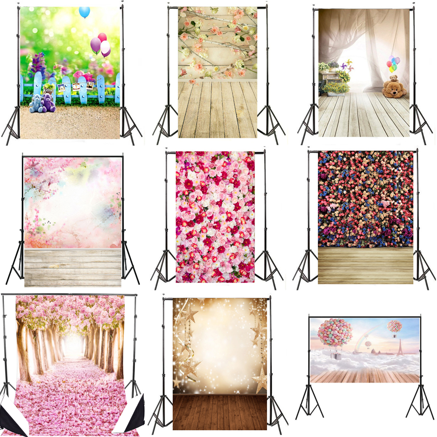 3x5FT / 5x7FT Romantic Flowers Theme Photography Background Studio Photo Props Wedding Photographic Backdrops Photobooth Props