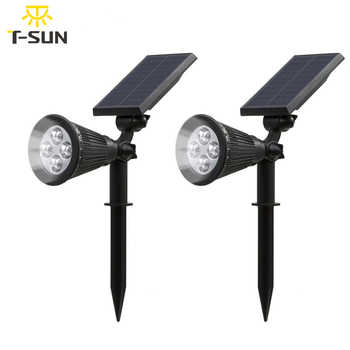 T-SUNRISE 2 PACK Solar light waterproof Powered Garden Spotlight Outdoor Spot Light for Landscap solar sensor light Cold White - DISCOUNT ITEM  35% OFF All Category
