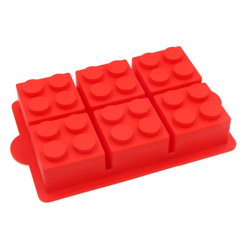 Aliexpress.com : Buy Cake Decorating Mould Big Lego Silicone Ice Mold  Blocks Shaped 6 Bricks Ice Cream Tools Cream Tubs Silicone Cake Mold From  Reliable ...