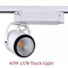 10 X 40 Вт AC 85 — 265 В теплый / холодный белый початок из светодиодов потолок железнодорожных путей свет прожектор лампы витрины магазин отслеживание потолочный светильник