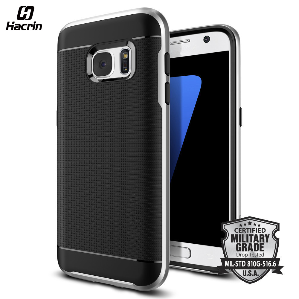 hacrin New design Hybrid Back Shield Case TPU+PC Cover 5.1 inch Protective Case For Sumsung Galaxy S7
