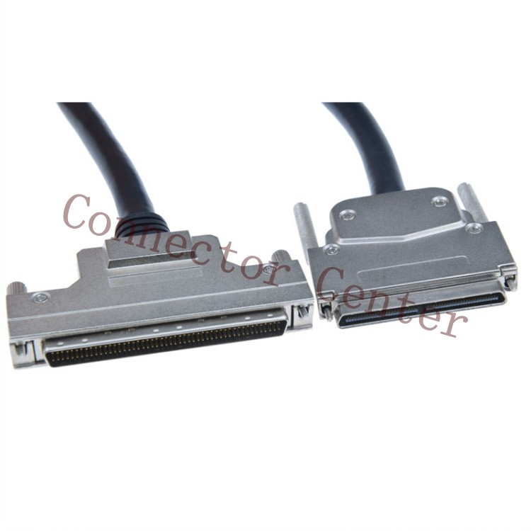 VHDCI 100P To SCSI 100P Cable connector compatible with HDRA-E100 OEM Length 50pcs monolithic capacitors 100p 100pf 101